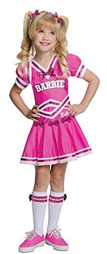 UHC Girl's Barbie Cheerleader Toddler Sports Fancy Dress Child Halloween Costume, 2T-4T