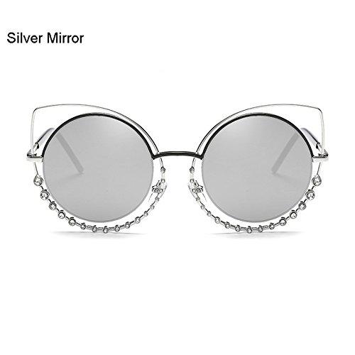 Ojo de Marca de Nuevo 2017 Mujer Gafas Moda de de de Lujo la C Metal A Gato Famosa Diamond Burenqi UV400 Diseñador XFnq6aOO