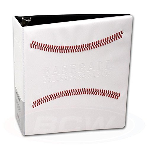 (White Stitched Baseball Card Collectors 3-Ringed Album With 3
