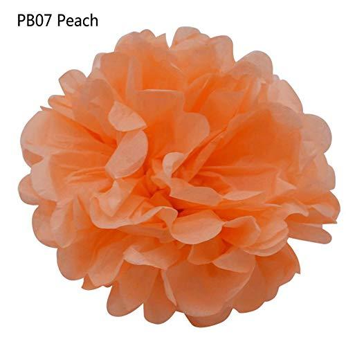 Tissue Paper Flowers - 25cm 5pcs Blue Pink