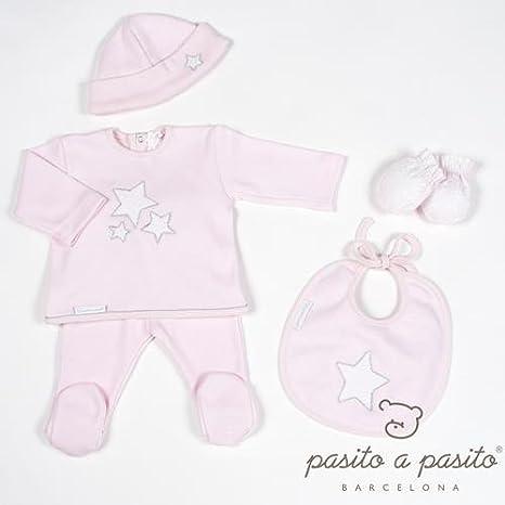 Pasitto a Pasito - Pack Primera puesta Pasito a Pasito Etoile T/0 meses rosa: Amazon.es: Bebé