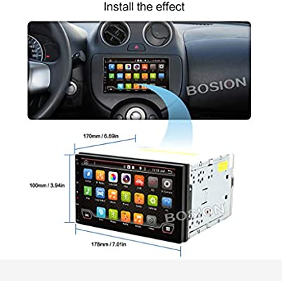 BOSION Navigation - Radio para coche (7 pulgadas, HD ...
