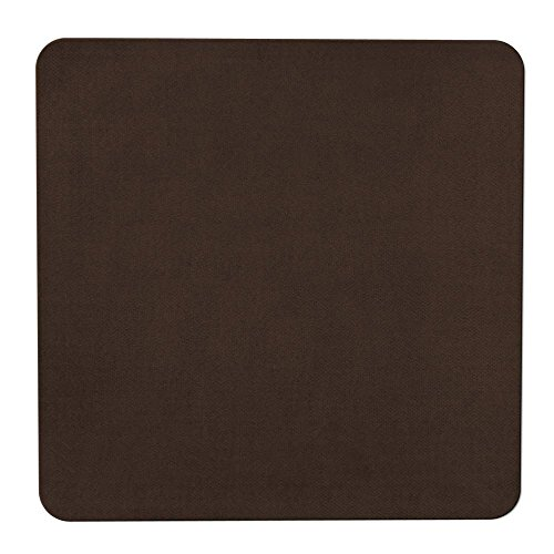 House, Home and More Skid-Resistant Carpet Indoor Area Rug Floor Mat - Chocolate Brown - 4' X 4' - Many Other Sizes to Choose ()