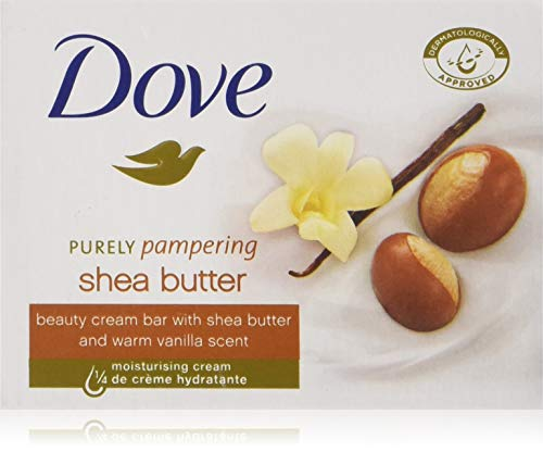 Dove Bar Soap - Beauty Cream Bar - With Shea Butter & Warm Vanilla Scent - Net Wt. 3.5 OZ (100 g) Per Bar - 4 Count Bars Per Package - Pack of 3 Packages (Total of 12 Bars)