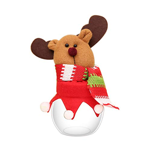 HEART SPEAKER Christmas Snowman Santa Reindeer Candy Box Jar Biscuit Sweetie Container Party Decor 5# by HEART SPEAKER (Image #1)