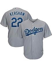 YQSB Camiseta Deportiva Baseball Jersey Grandes Ligas de béisbol # 22 Kershaw Los Angeles Dodgers