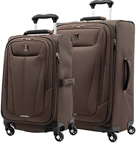 Travelpro Maxlite 5-Softside Expandable Spinner Wheel Luggage, Mocha, 3-Piece Set 21 25 29