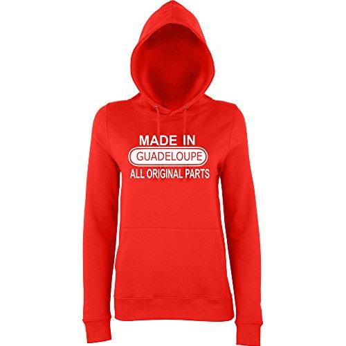 Daataadirect - Sudadera con capucha - para mujer Fire Red