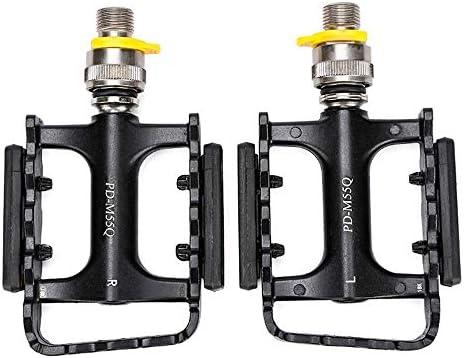 CHENBIN-BB アウトドアスポーツ自転車のペダル、BMX、マウンテンバイクロードバイクに適したクイックリリースアルミ合金製ベアリングペダル、左右を区別する 自転車