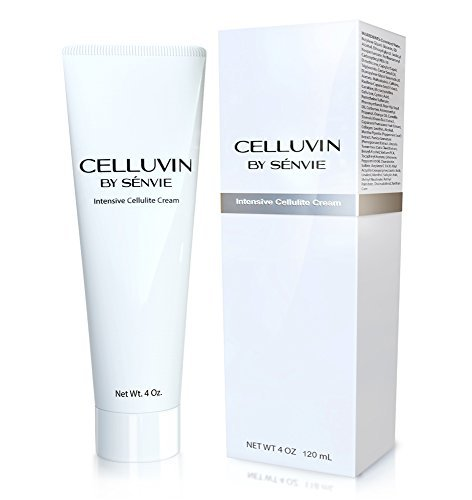 Celluvin Anti Cellulite Cream Caffeine & Retinol Made with Natural & Ingredients Works Great with Derma Rollers, Cellulite Brushes & Cellulite Massagers, 4 oz by Celluvin