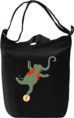 Circus elephant Borsa Giornaliera Canvas Canvas Day Bag| 100% Premium Cotton Canvas| DTG Printing|