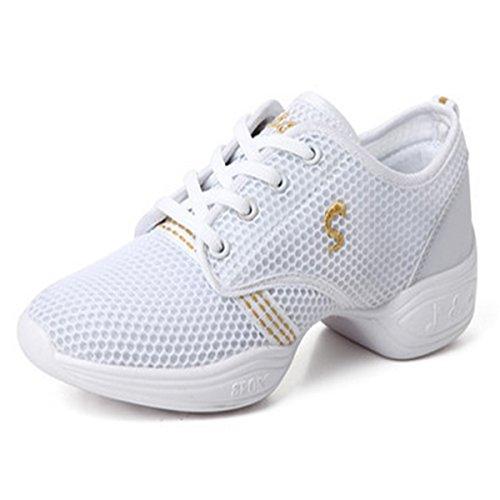 処分したとげのある検出可能BLLendina レディーズ メンズ 子供  ダンススニーカー メッシュ スポーツ 社交ダンス ジャズシューズ  ウオーキングシューズ 運動靴 男女兼用