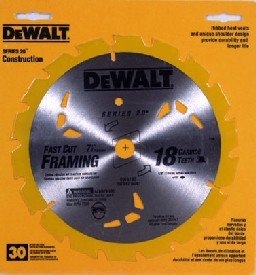 DeWalt DW3192 7-1/4 inch 18 Teeth Finishing Carbide Saw Blade