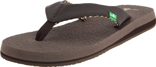 (Sanuk Women's Yoga Mat Flip Flop,Brown,8 M US)