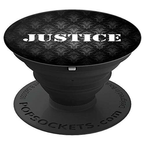 Justice Personalized Custom Name PopSocket-Men Boys - PopSockets Grip and Stand for Phones and Tablets ()