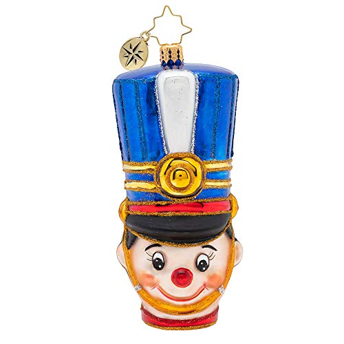 Christopher Radko Attention, Toy Soldier Christmas Ornament, Blue (Toy Soldiers Christmas)