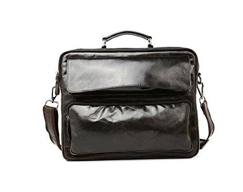 DJB/ Leder Mann Tasche Business Laptop Aktenkoffer für Männer Wachs Haut Umhängetasche