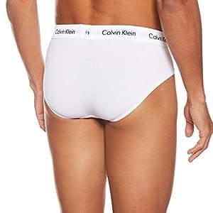 Calvin Klein Underwear Men's Slip Pack of 3 – Cotton Stretch, White/Red Ginger/Pyro Blue, Medium