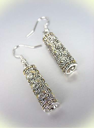 Barrel Hoop Earring Set - Designer Style Silver Gold Balinese Floral Butterfly CZ Crystals Barrel Earrings For Women Set