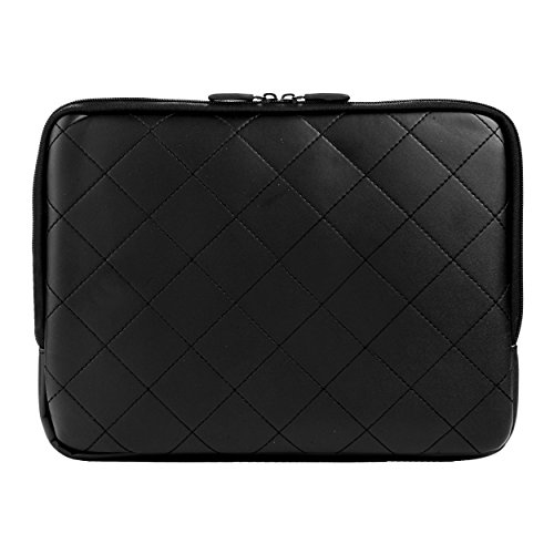 """Diamond Quilt PU Leather Carrying Cover For Microsoft Surface Pro 3 Windows 8.1 Pro 12"""" Tablet + Black Bluetooth Suction Speaker"""
