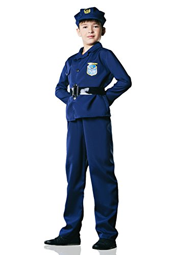 Kids Boys Policeman Halloween Costume Cop Police Officer Dress Up & Role Play (3-6 years)