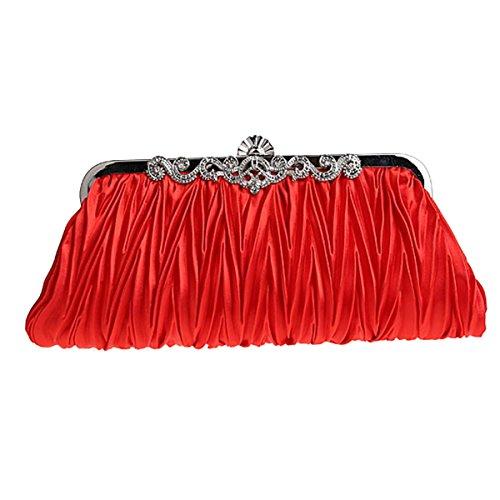 Red Silk Clutch Bag - 5