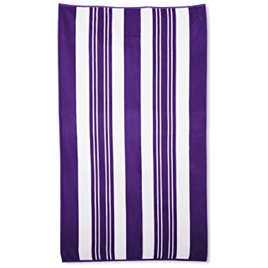 Northpoint Sorrento Combed Cotton Thick Terry Oversized Beach Towel, 40 by 70-Inch, Melanze Purple