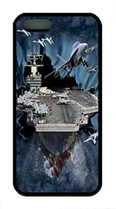 iPhone 5S Case and Cover -Aircraft Carrier Breakthrough TPU Silicone Rubber Case Cover for iPhone 5 and iPhone 5s Black