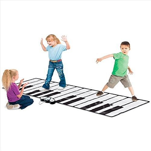 Rhode Island Novelty Giant Electronic Floor Mat Keyboard, Black/White, 100
