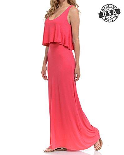 Maxi Top Basico Spiced Tube Women's Coral 1669 Dress Sleeveless gqgr5Pxvwf