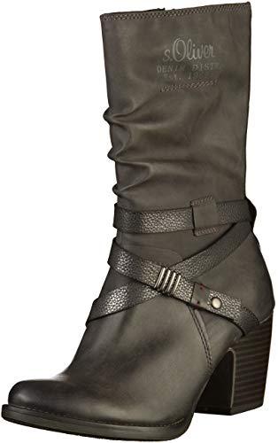 oliver 26378 S black Noir Botines 98 31 Comb Femme 7dppxw