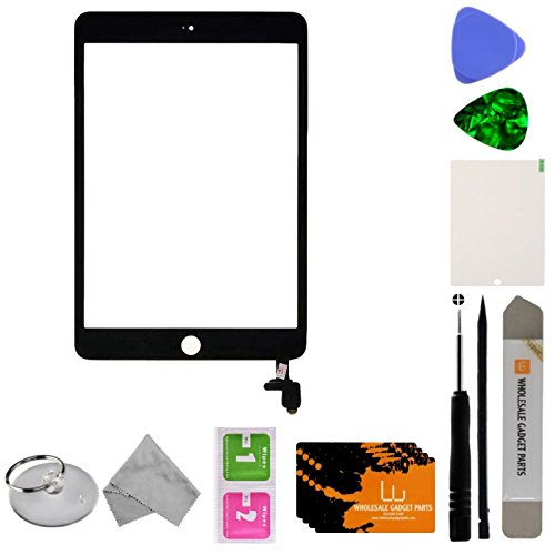 Digitizer & IC Connector (Pre-Soldered without Adhesive & No Home Button) for Apple iPad Mini 3 (Black) with Tool Kit by Wholesale Gadget Parts (Image #2)