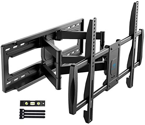 PERLESMITH TV Wall Mount Bracket Full Motion – Fits 16 , 18 or 24 Studs – for Most 50-90 Inch Flat Curved LED LCD OLED 4K TVs up to 165lbs Max VESA 800x400mm, 23.62 Extension – PSXFK1