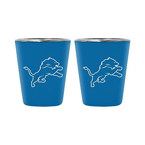 NFL Detroit Lions Lusterware Shot Glass, 2-ounce, 2-Pack