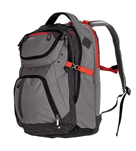 All of Us Revival Tech Laptop Backpack for School, Business, or Travel (Grey) ()