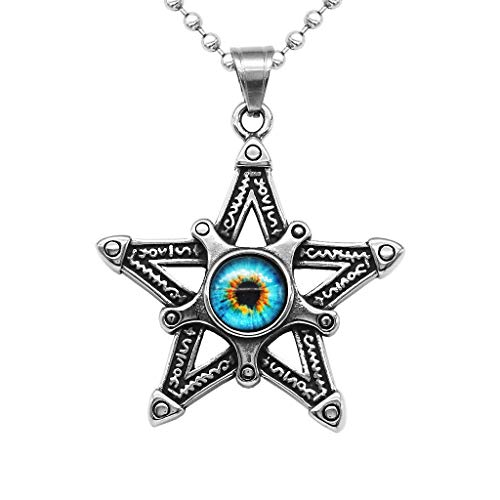 Skull Star Pentacle Amulet Resin Evil Eye Pendant Necklace Ball Chain Jewelry Necklace Jewelry Crafting Key Chain Bracelet Pendants Accessories Best| Color Shape - Blue ()