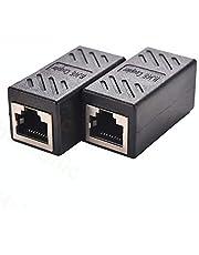 Haitronic RJ45 bağlayıcı, ethernet kablo bağlayıcı, LAN fişi, Inline-Cat7/Cat6/Cat5e, Ethernet kablo uzatma adaptörü, soket üzerinde soket, 2 adet