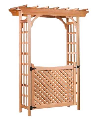 BestNest Arboria Rosedale Cedar Arbor with Gate