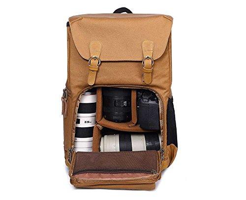 FangYOU1314 Schulter-Fotografie-Rucksack SLR Digital Bag wasserdichte Leinwand Männer Rucksack Kameratasche lnPrHDF
