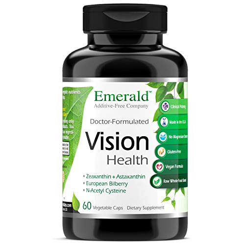 Vision Health - with Lutein & European Bilberry Extract - Supports Macular Health, Retina/Lens Strength, Eye Sensitivity - Emerald Labs - 60 Vegetable Capsules