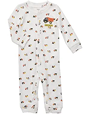 Carter's Baby Boys Cotton Footless Snap-up Sleep & Play