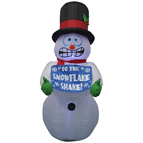 Home Accents Holiday 6 ft. Pre-lit Inflatable Shivering Snowman Airblown