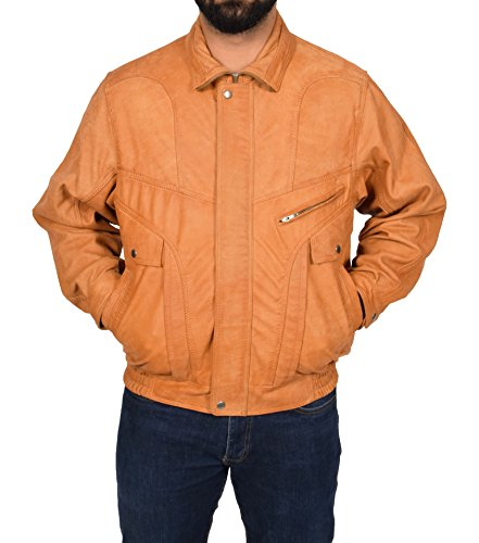 Tan Leather Jacket Mens - 9