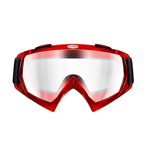 HEROBIKE Motorcycle Off-Road Racing Goggles Winter Skate Sled ATV Eyewear Motocross DH MTB Glasses Single Lens Clears - Exquisite Eyewear