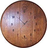 Wine barrel head Wall Clock With Cooperage Logo By Wine Barrel Creations