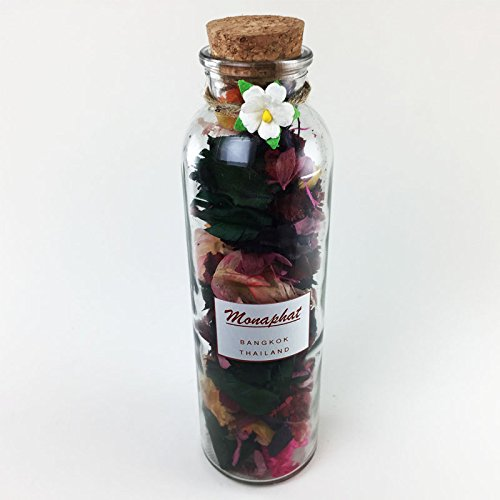 MONAPHAT The Beautiful Glass Bottle Design Decorative with MINT Fragrance Potpourri #PR-0408 by MONAPHAT
