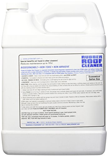 Amazon.com: RV Rubber Roof Cleaner   Non Toxic, Non Abrasive RV Roof  Detergent 1 Gallon   Protect All 67128: Automotive