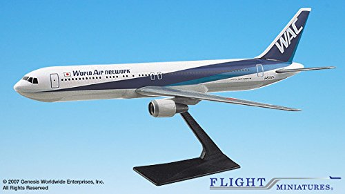 (World Air Network Boeing 767-300 Airplane Miniature Model Plastic Snap Fit 1:200 Part# ABO-76730H-011)