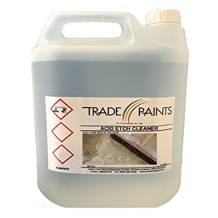 Acid Etch Concrete Floor Cleaning Degreaser Solution 5 Litre