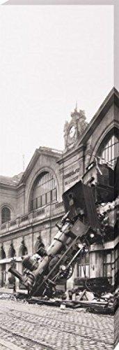 1art1 63929 Züge - Zugunglück Am Bahnhof Montparnasse, Paris, Frankreich, Poster 1895 Poster Frankreich, Leinwandbild Auf Keilrahmen 120 x 40 cm 0cfe8d